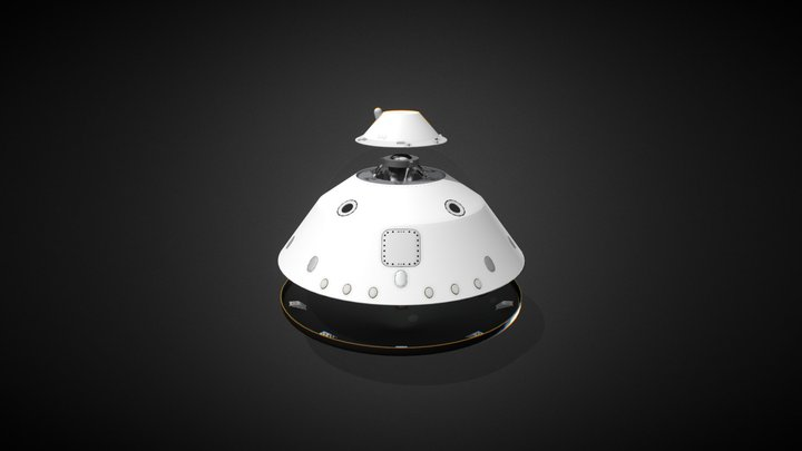 NASA Curiosity Aeroshell MSL 3D Model