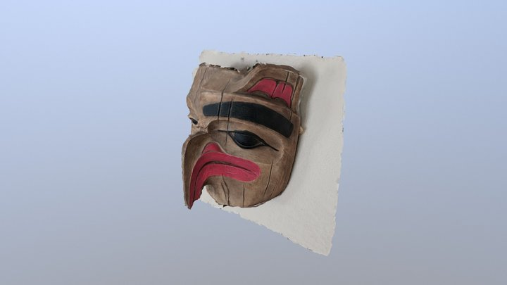 Mask on wall 3D Model