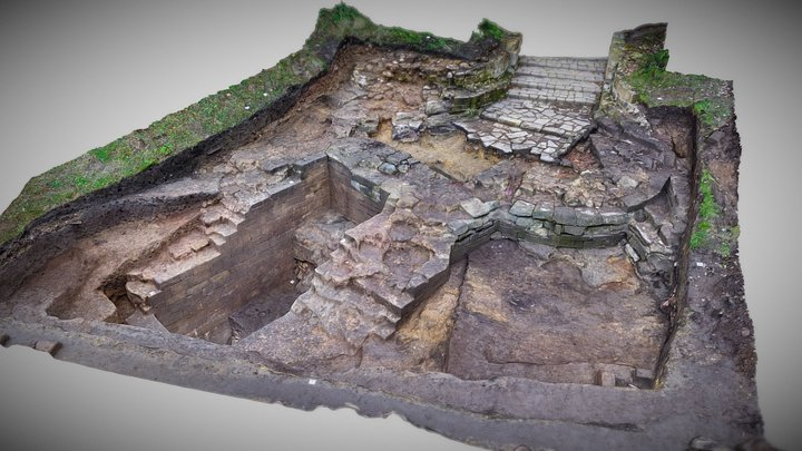 Pontefract Castle Gatehouse post-excavation 3D Model