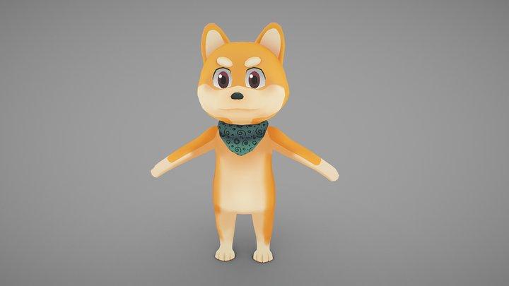 Shiba Inu 3D Model