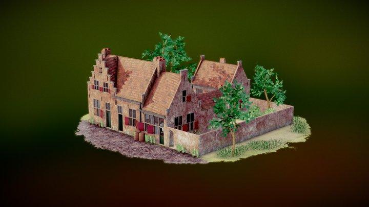 Rembrandt's Birthplace - Leiden - Diorama 3D Model