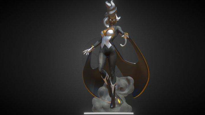 Storm statue 3D Model