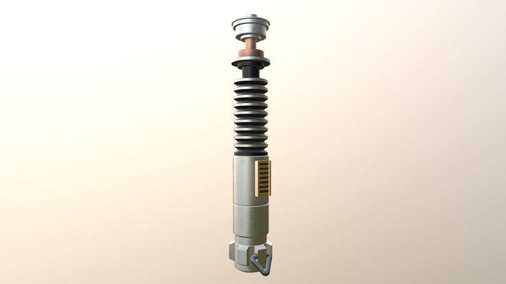 Luke Skywalker's light saber 3D Model