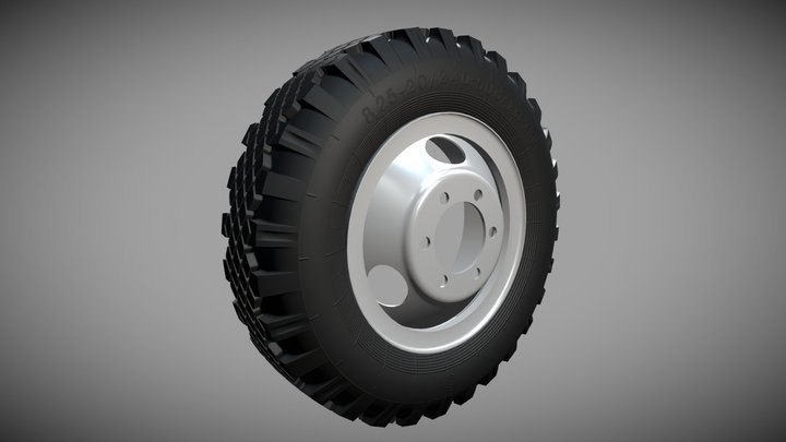 Колесо ГАЗ-53 для печати  на 3d принтере. 3D Model