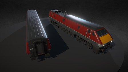Electric train - Class 91 3D Model