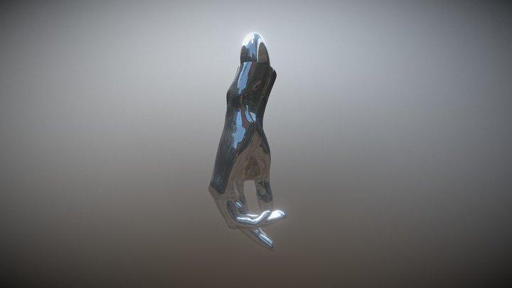 Lindsay Hand Perpendicular Orientation 3D Model