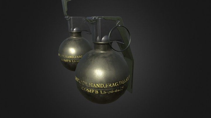M67 Fragmentation Grenade 3D Model