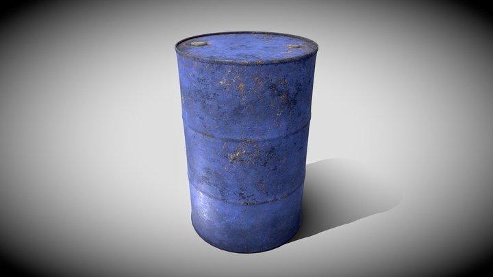 Rusty Old Barrel 3D Model