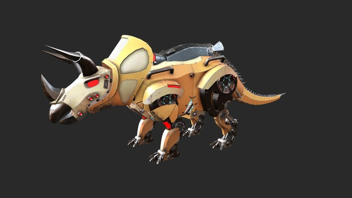 Mecha-Triceratops 3D Model