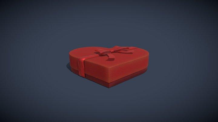 Heart Shaped Present 3D Model 3D Model