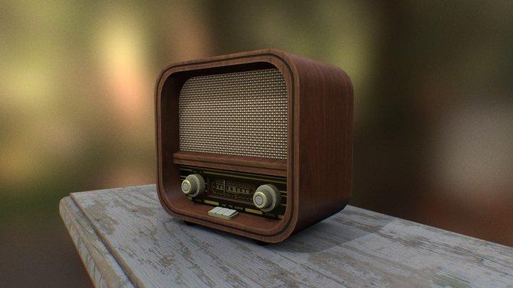 VINTAGE RETRO RADIO 3D Model