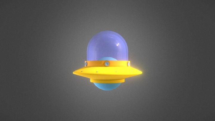 Chibi UFO - Low Poly 3D Model