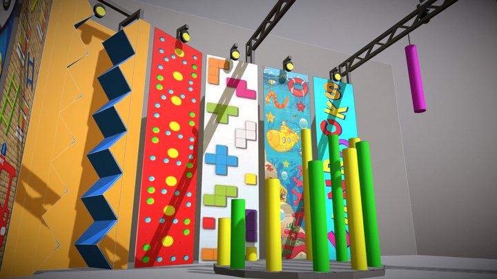 Визуализация комплекса Fun Rocks 3D Model