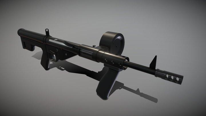 STEN Modified 3D Model
