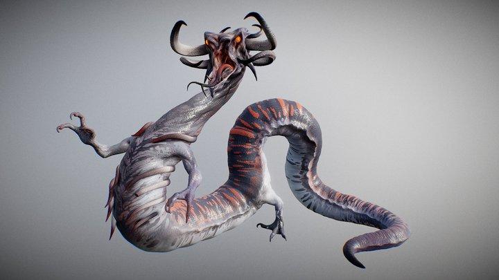 Serpent Dragon 3D Model