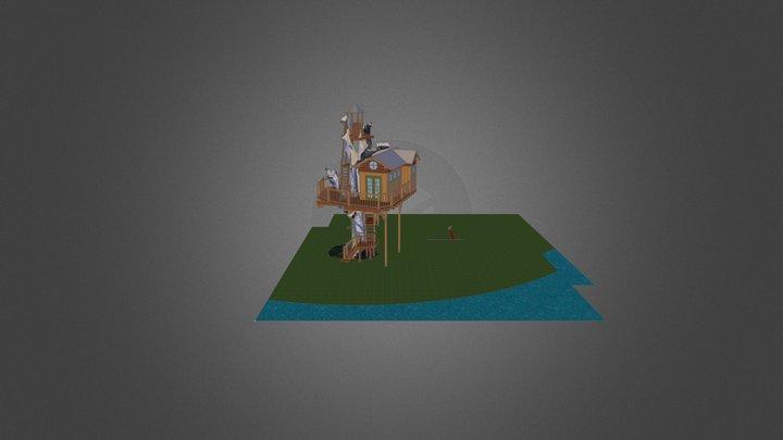 Sonoma vineyard treehouse 3D Model