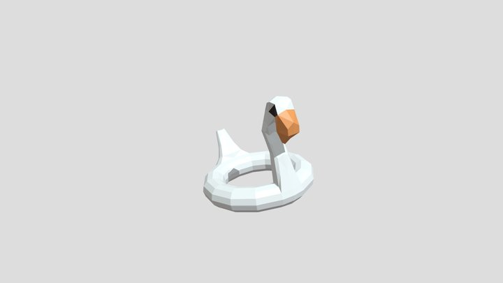 beach inflatable swan float 3D Model