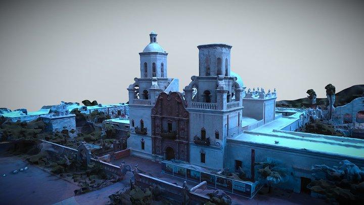 San Xavier Del Bac - Tucson, AZ 3D Model