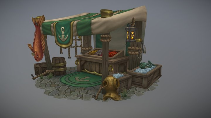 Boralus Fish Market 3D Model