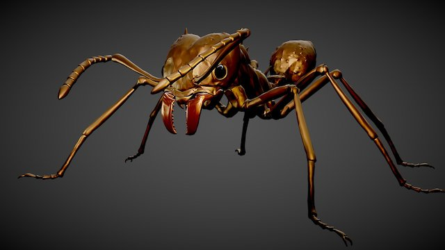 Insect Ant Leafcutter 3D Model