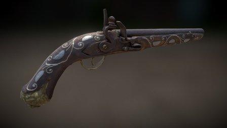 Pirate Flintlock Gun 3D Model