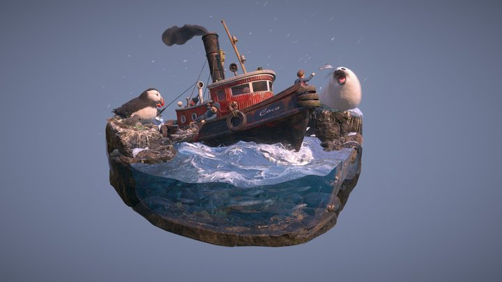 Model Inspector Demo: Fishing Trip 3D Model