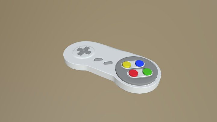 Supernintendo Controller (Custom) 3D Model