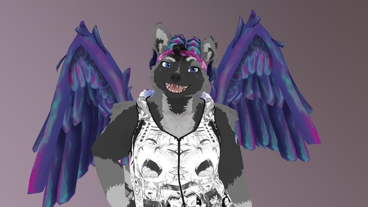 Galaxy Wolf - VRChat Avatar Commission 3D Model