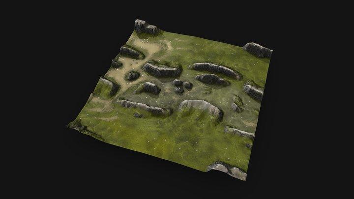 Altored Divide | BAR Map 3D Model