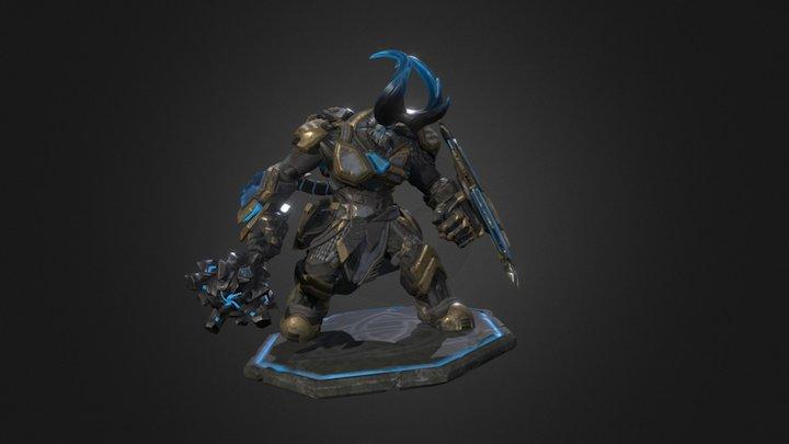 Snord - Golden Guardian 3D Model