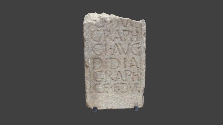 Inscripción romana liberta 3D Model