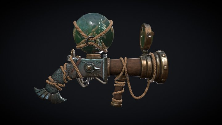 Piranha Launcher - Low Poly Asset 3D Model