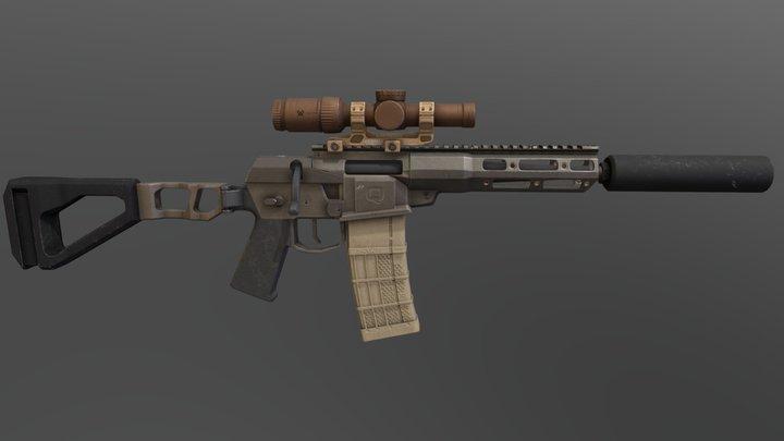 Mini Fix Q sniper rifle 3D Model