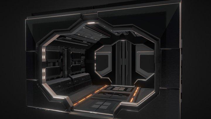 Back Intern Spaceship (SINGULARITY project) 3D Model