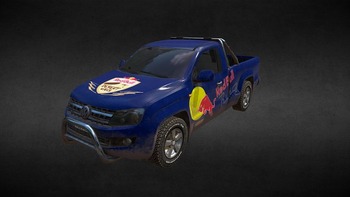 VW Amarok Dirty 3D Model