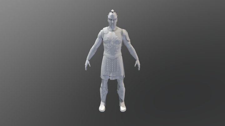 Gladiator Decimated 3D Model