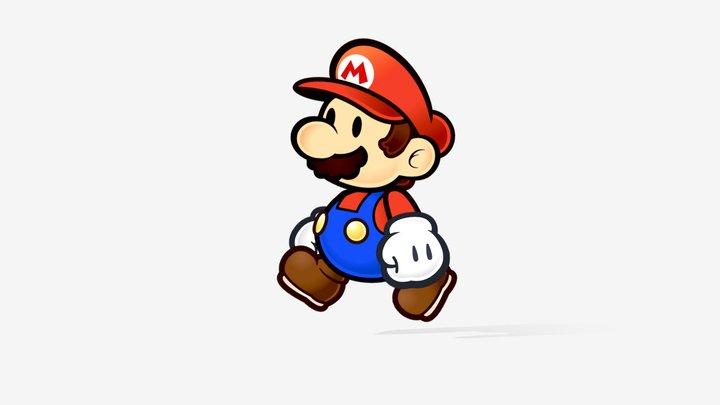 Paper Mario 3D Model