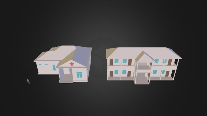 Khmer_Hospital.3ds 3D Model