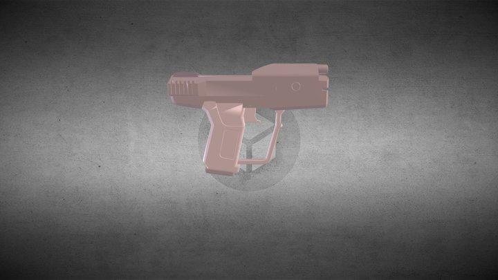 Pistola Halo Simplificada( Halo Gun Simplified) 3D Model