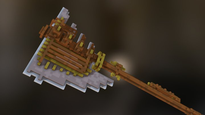 Industrial Battle Axe 3D Model