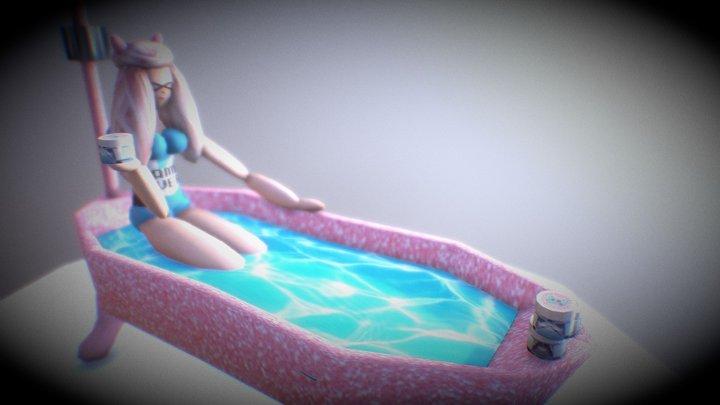 Bathwater Girl 3D Model