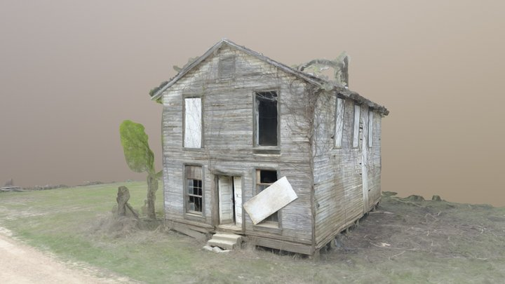 The Masonic Lodge F. & A.M - Rodney, MS 3D Model