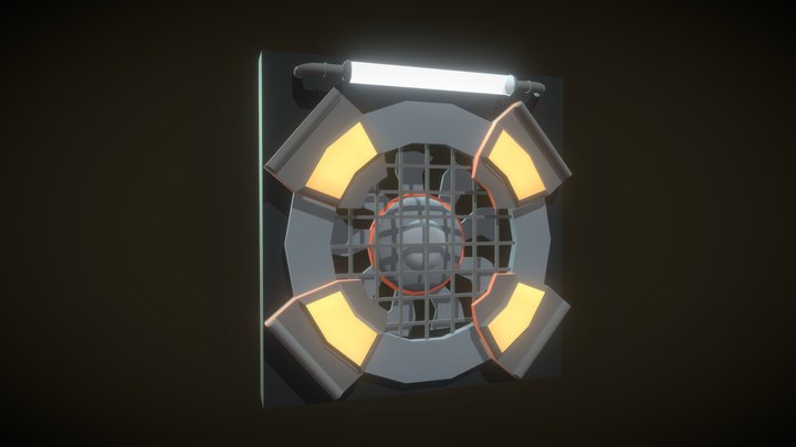 AC Fan 3D Model