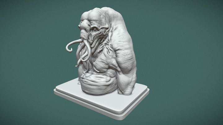 Old One - Bust - 3D Printing 3D Model