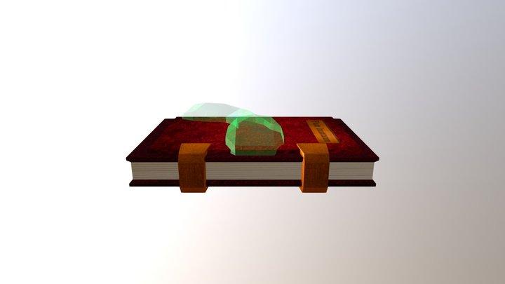 Spellbook (Textured) 3D Model