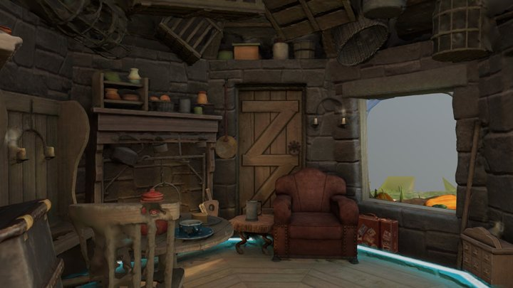 Harry Potter Wizards Unite Hagrid's Hut 3D Model