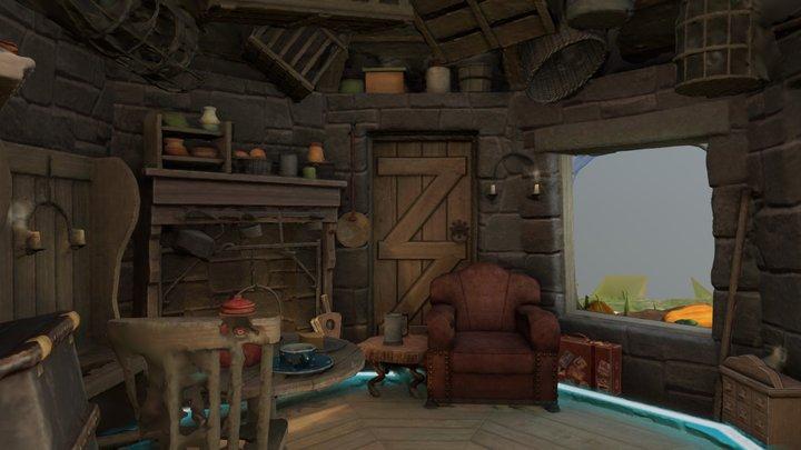 Harry Potter Wizards Unite Hagrid's Hut 3D Model
