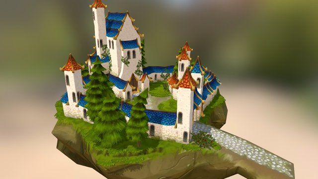 The white castle in the sky 3D Model