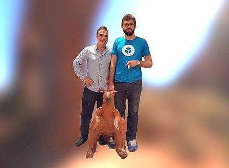 Coco, Louis, and their Kangaroo Friend 3D Model
