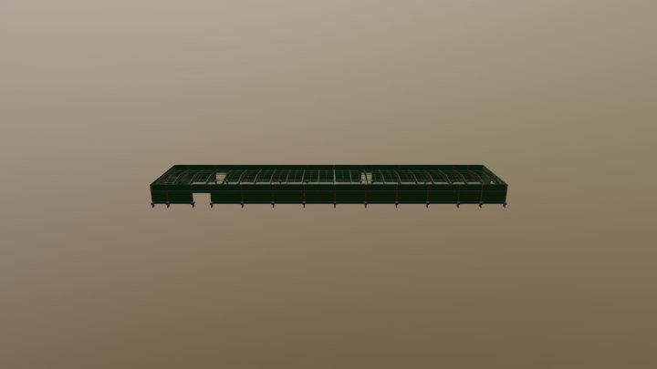 Cobertura Metálica - Uniesp - Olimpia-SP 3D Model